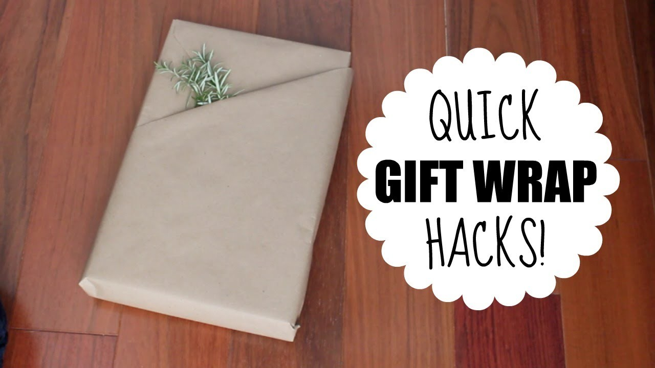 Quick Gift Wrap Hacks!