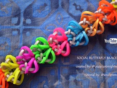 SOCIAL BUTTERFLY BRACELET HOOK ONLY DESIGN TUTORIAL
