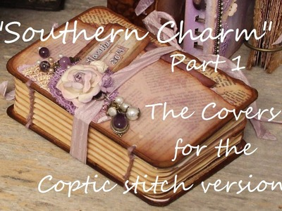 """Southern Charm"" Part 1 ""The Covers"" Printable Mini Book Coptic Stitch"