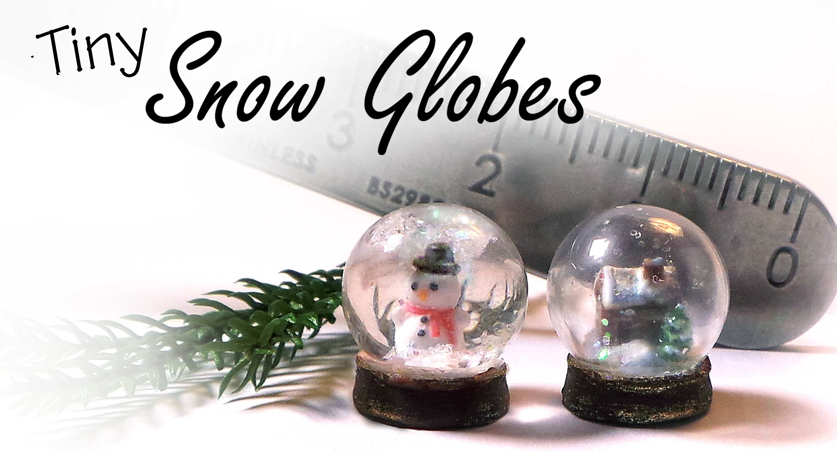 Tiny Snow Globes - Polymer Clay Tutorial