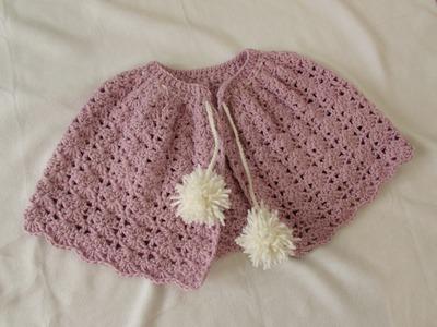 VERY EASY crochet winter shrug. shawl. poncho - any size