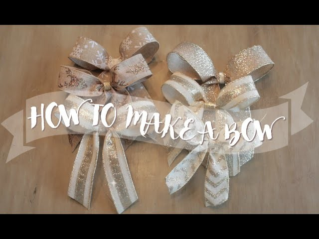 VLOGMAS DAY 13: THE FASTEST & EASIEST WAY TO MAKE A BOW!