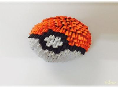 3d origami - pokeball diagram