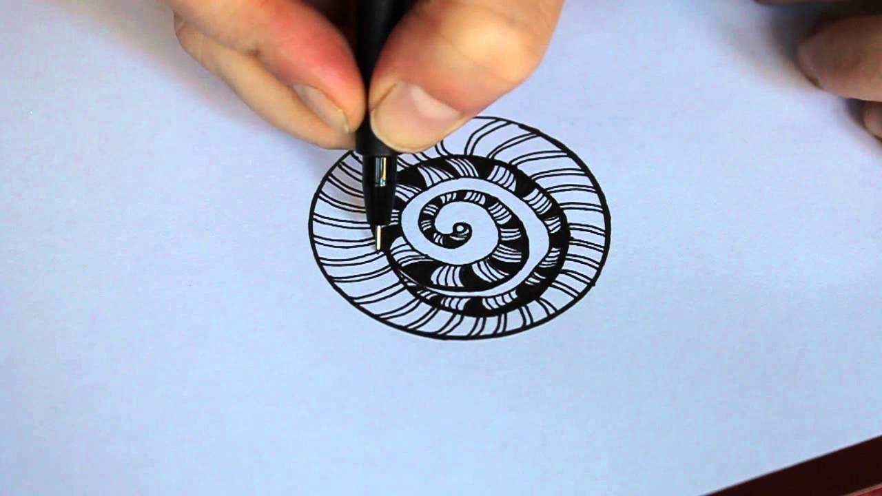 A simple zentangle design