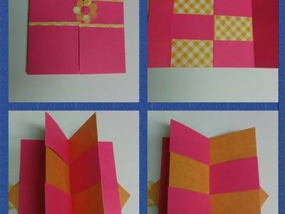 Art & Craft: How to make secret door greeting card.  Magic card