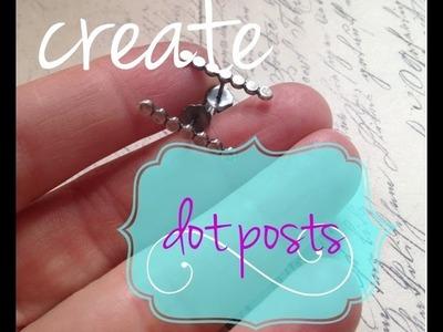 Create Sterling Silver Dot Post Earrings - Make Silver Jewelry