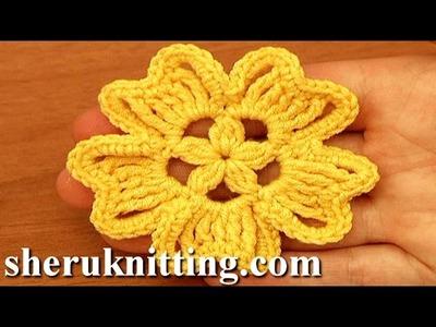 Crochet 5-Petal Flower Tutorial 94