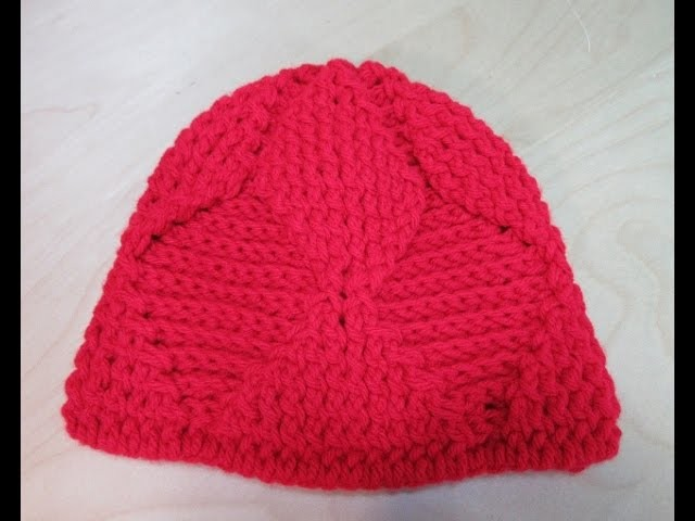 Crochet easy reversible hat for kids. With Ruby Stedman