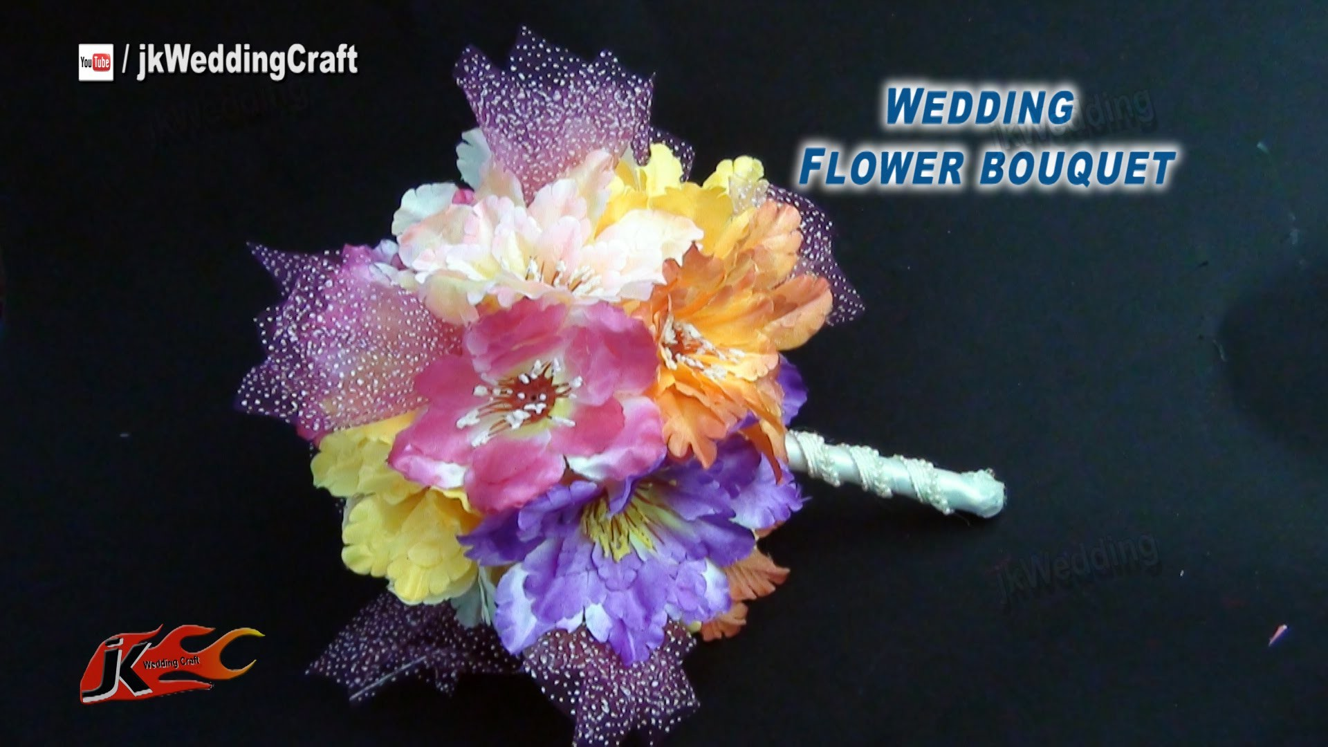DIY Easy Bridal Bouquet | wedding bouquet | How to make | JK Wedding Craft 029