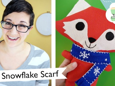 DIY Snowflake Scarf for a Stuffed Toy