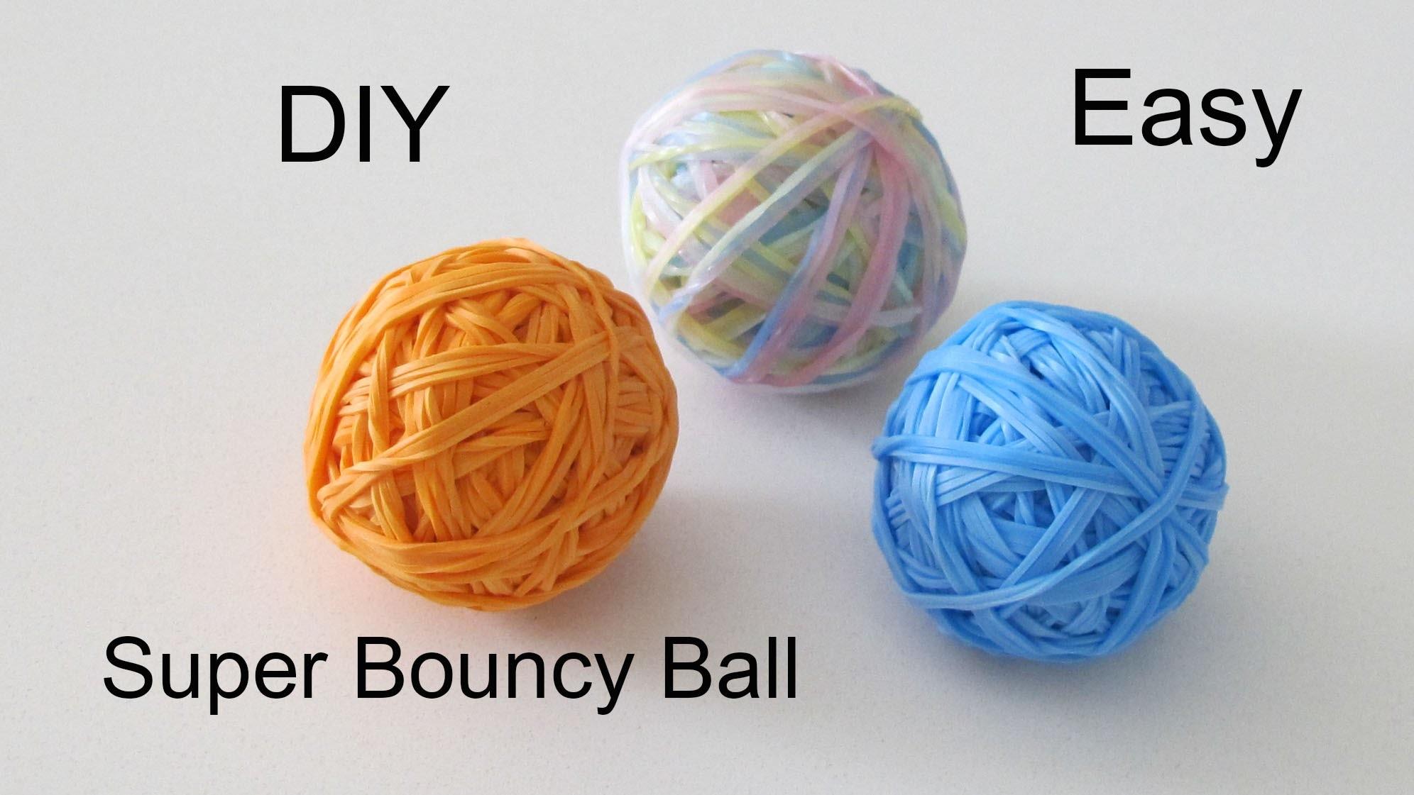 DIY: Super Bouncy Ball.Rainbow Loom Bouncing Ball 3D Jump Up to 12+ Feet