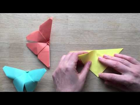 Easy Origami Butterfly tutorial 4