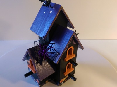 Halloween decorations, birdhouse decoration how to