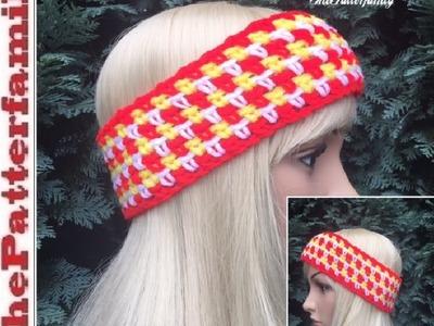How to Crochet Earwarmers. Headband Pattern #28│by ThePatterfamily