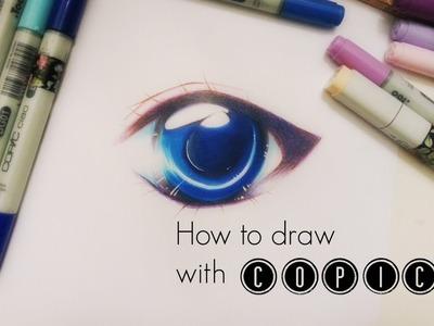 How to draw: Simple Effectful Manga.Anime eye with COPIC