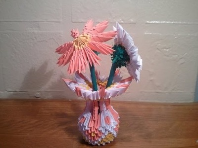 How to make 3d origami small vase (updated)