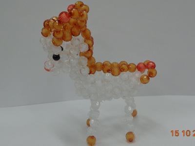 How to make a Beaded deer  beaded bead Tutorial- part 3-hướng dẫn kết cườm