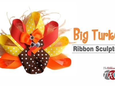 How to Make a Big Turkey Ribbon Sculpture - TheRibbonRetreat.com