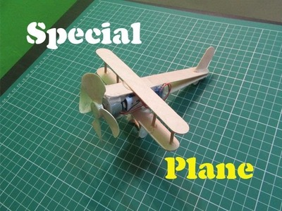 How to Make a Electric Powered Pop Stick Plane- Easy Tutorials