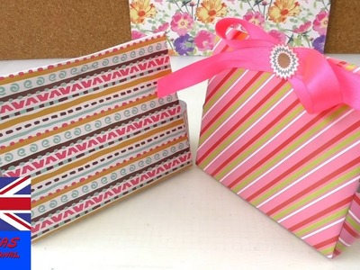 How to make a gift bag out of paper - DIY crafts: Paper GIFT BAG (Easy Tutorial)