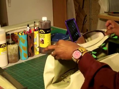 How To Make A Leather Tote Bag With Fabric Lining Part 5