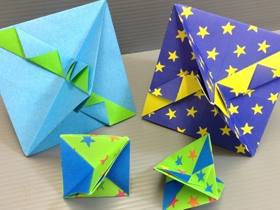 How to Make a Simple Colorful Origami Top