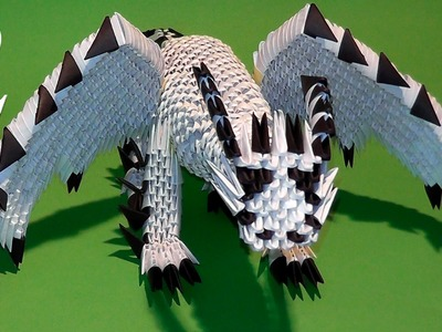 How to make dragon out of paper tutorial 3D origami