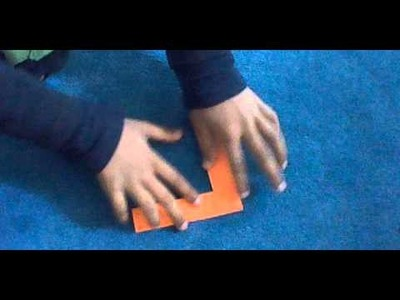 How to make Origami Boomerang (Left handed)