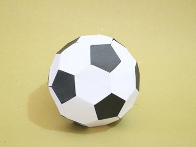 How to Make Origami Soccer Ball Size 2 (Black-White)