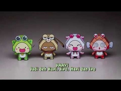 How to make PiPoYa Papertoy (Papercraft)
