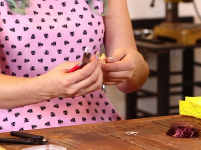 How To Make Wire Jewelry - Ring Chain Bracelet - Part 1