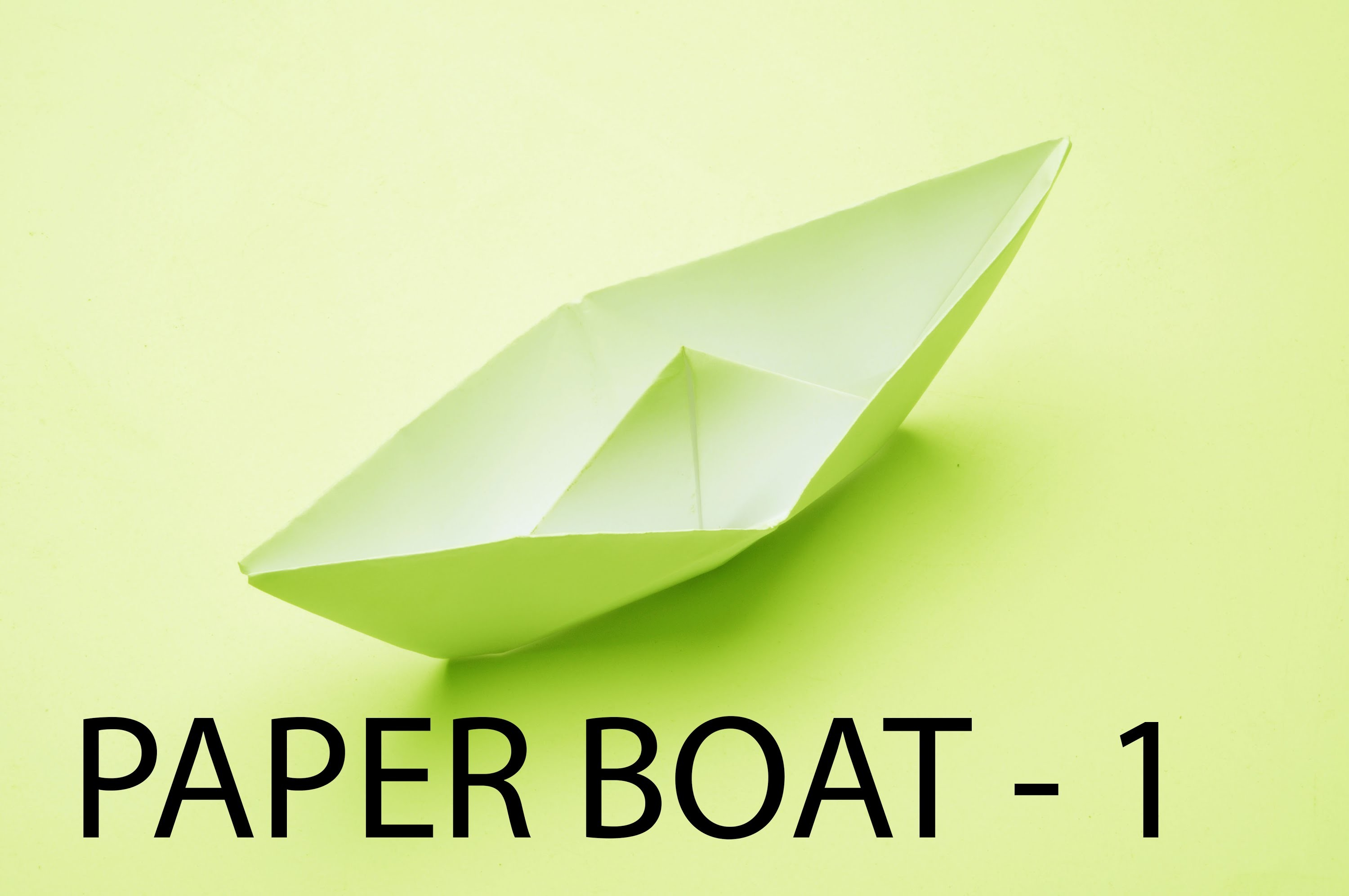 How To Making Paper Boat By Using Paper By Arts & Crafts , Origami