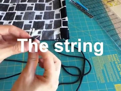 How to sew a Drawstring bag step by step