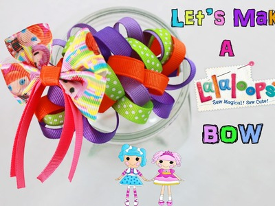 Let's make a Lalaloopsy hair bow. How To DIY hairbow
