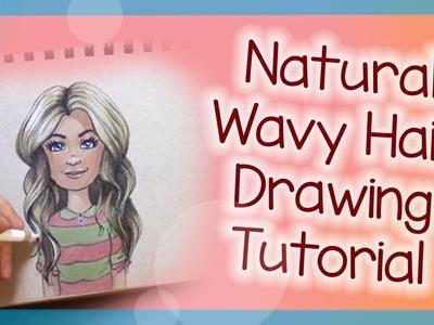 Natural Wavy Hair Drawing Tutorial