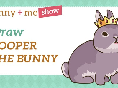 Netherland Dwarf Bunny Drawing Tutorial - How to draw Cooper the Pooper