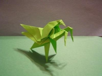 Origami Daily - 192: Praying Mantis (Modular Origami)  - TCGames [HD]
