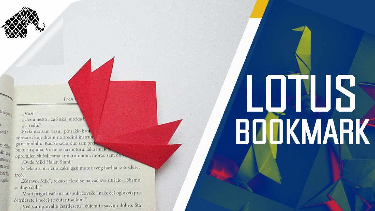 Origami - How To Make An Origami Lotus Bookmark