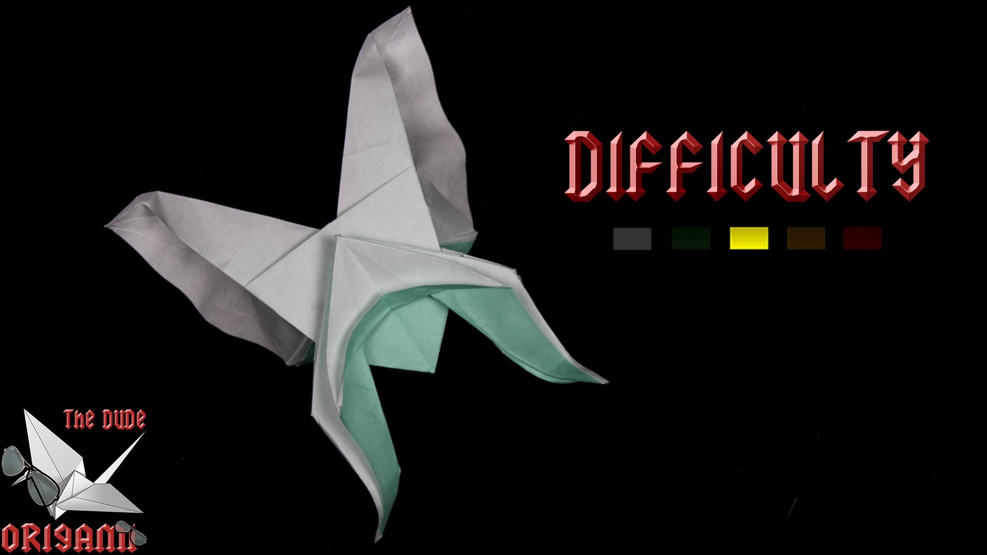 [ORIGAMI TUTORIAL] Butterfly (Hoang Tien Quyet) || Animals.Complex