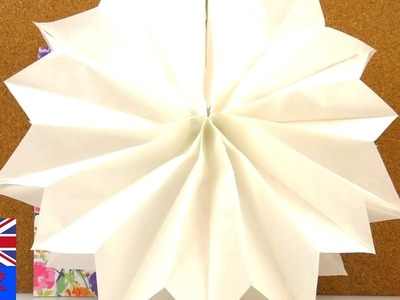 Paper star christmas decoration. Tutorial: DIY How to make a paper star for christmas?