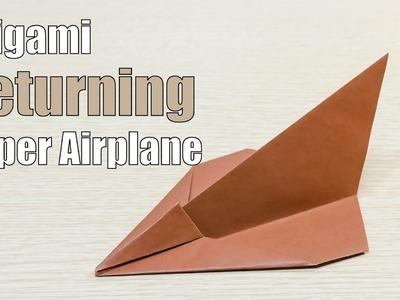 Return back flying Paper Airplane Origami