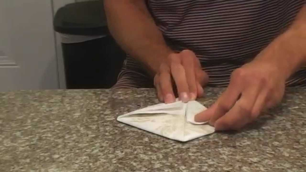 Rolando Making Easter Bunny Origami