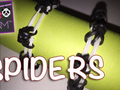 Spiders on a Web Bracelet | Loom Bands + Hook - No Loom Required