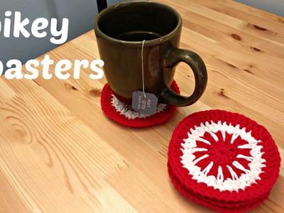 Spikey Coasters - Crochet Pattern