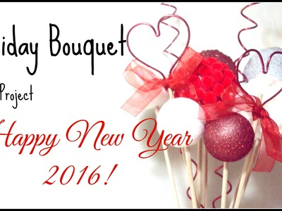 Styrofoam-balls decorative bouquet DIY project and happy New Year