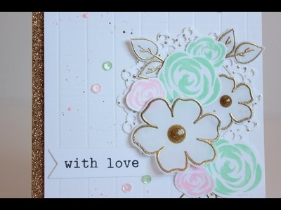 Trying a new style with a floral card