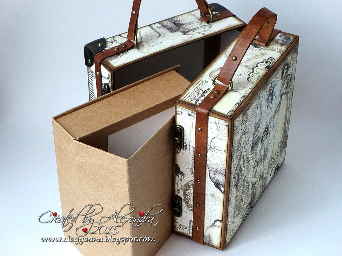 Vintage Suitcase and AlbumTutorial   part2   Making the Drawer Album