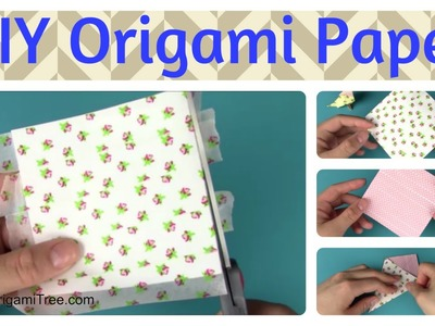 Washi Tape Craft - How to Make Your Own Origami Paper - Double-Sided Origami Paper Craft