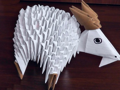 3D origami goat (nanny-goat) assembly diagram (tutorial, instructions)