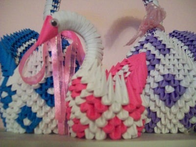 3D Origami: How to Make a Mini Swan
